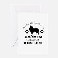 American Eskimo Mommy designs Greeting Card