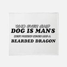Bearded Dragon pet designs Throw Blanket