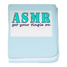 ASMR get your tingle on baby blanket