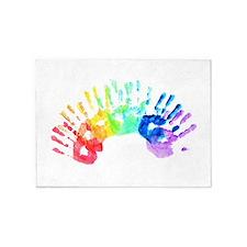 Rainbow Hands 5'x7'Area Rug