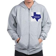 The State of Texas Zip Hoodie