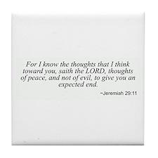 Jeremiah 29:11 Tile Coaster