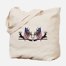 Patriotic Whitetail black powder Tote Bag