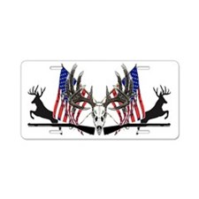 Patriotic Whitetail black powder Aluminum License