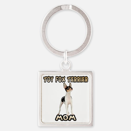 Toy Fox Terrier Mom Square Keychain