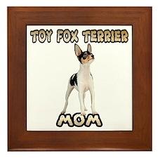 Toy Fox Terrier Mom Framed Tile