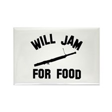 Will jam or play the Bassoon for food Rectangle Ma