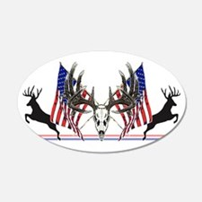 Patriotic Whitetail buck Wall Decal