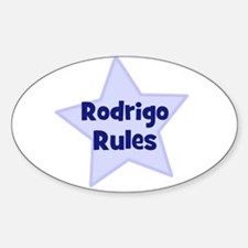 Rodrigo Rules Oval Decal