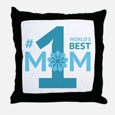 Nr 1 Mom Throw Pillow