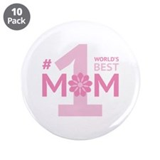"Nr 1 Mom 3.5"" Button (10 pack)"