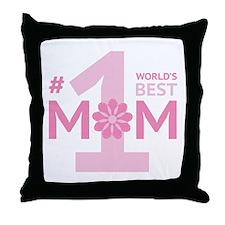 Nr 1 Mom Throw Pillow