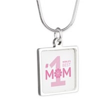 Nr 1 Mom Silver Square Necklace