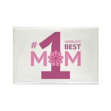 Nr 1 Mom Rectangle Magnet