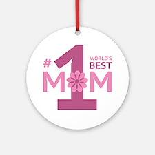 Nr 1 Mom Ornament (Round)