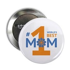 """Nr 1 Mom 2.25"""" Button (10 pack)"""