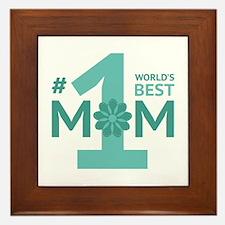 Nr 1 Mom Framed Tile