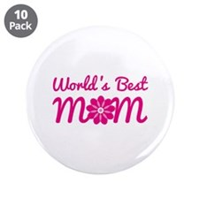 "World's Best Mom 3.5"" Button (10 pack)"