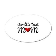 World's Best Mom 22x14 Oval Wall Peel