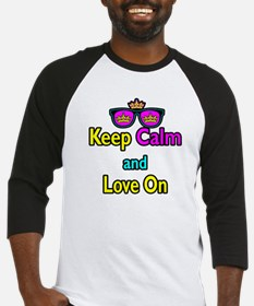 Crown Sunglasses Keep Calm And Love On Baseball Je