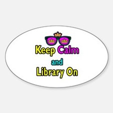Crown Sunglasses Keep Calm And Library On Decal
