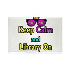Crown Sunglasses Keep Calm And Library On Rectangl