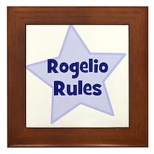Rogelio Rules Framed Tile