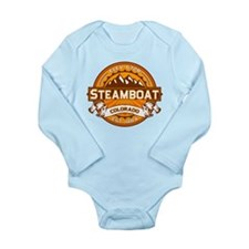 Steamboat Tangerine Long Sleeve Infant Bodysuit