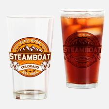 Steamboat Tangerine Drinking Glass
