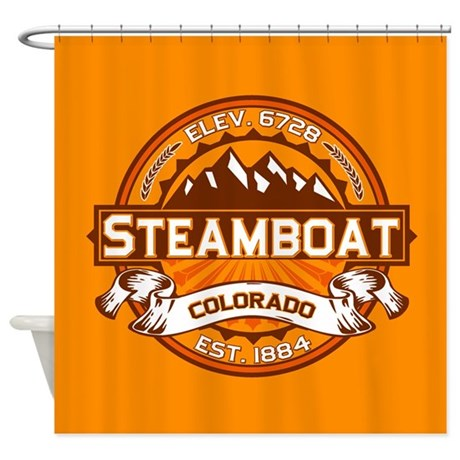 Steamboat Tangerine Shower Curtain
