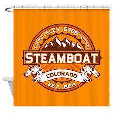 Steamboat Tangerine Shower Curtain