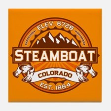 Steamboat Tangerine Tile Coaster