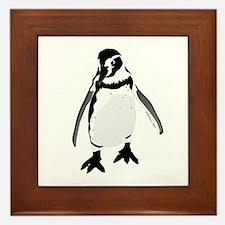 Humboldt Penguin smiling Framed Tile