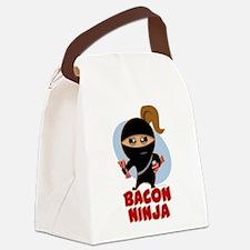 Bacon Ninja Canvas Lunch Bag