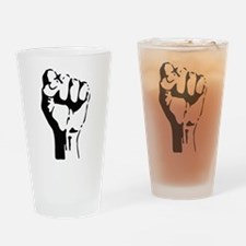 raised fist Drinking Glass