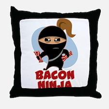 Bacon Ninja Throw Pillow