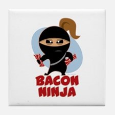 Bacon Ninja Tile Coaster