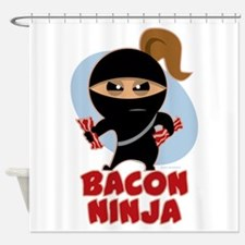 Bacon Ninja Shower Curtain