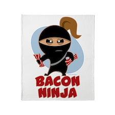 Bacon Ninja Throw Blanket