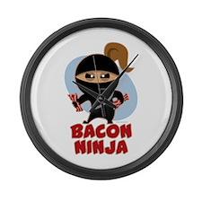 Bacon Ninja Large Wall Clock