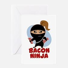 Bacon Ninja Greeting Card