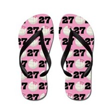 Volleyball Player Number 27 Flip Flops