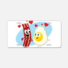 Bacon Love Aluminum License Plate
