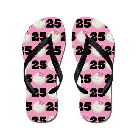 Volleyball Player Number 25 Flip Flops