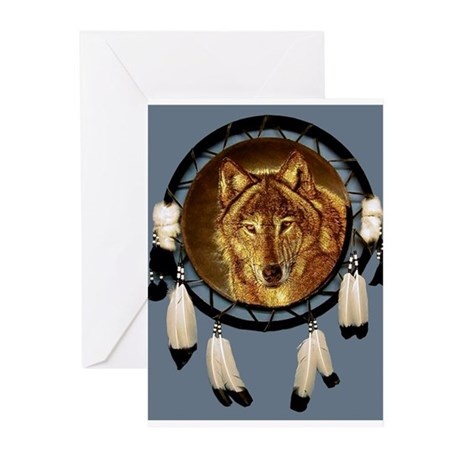 Wolf face Greeting Cards (Pk of 10)