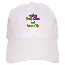 Crown Sunglasses Keep Calm And Leave a Tip Baseball Cap