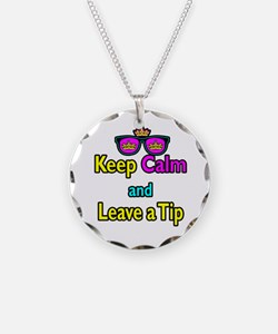 Crown Sunglasses Keep Calm And Leave a Tip Necklac