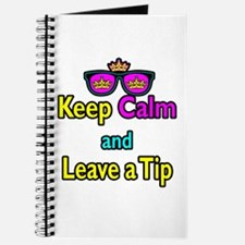 Crown Sunglasses Keep Calm And Leave a Tip Journal