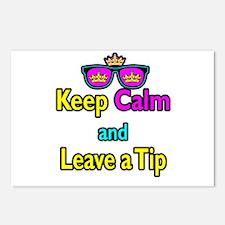 Crown Sunglasses Keep Calm And Leave a Tip Postcar