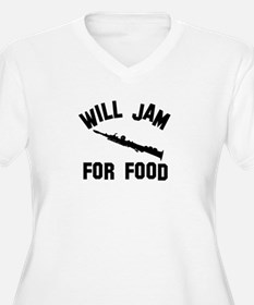Will jam or play the Soprano Sax for food T-Shirt